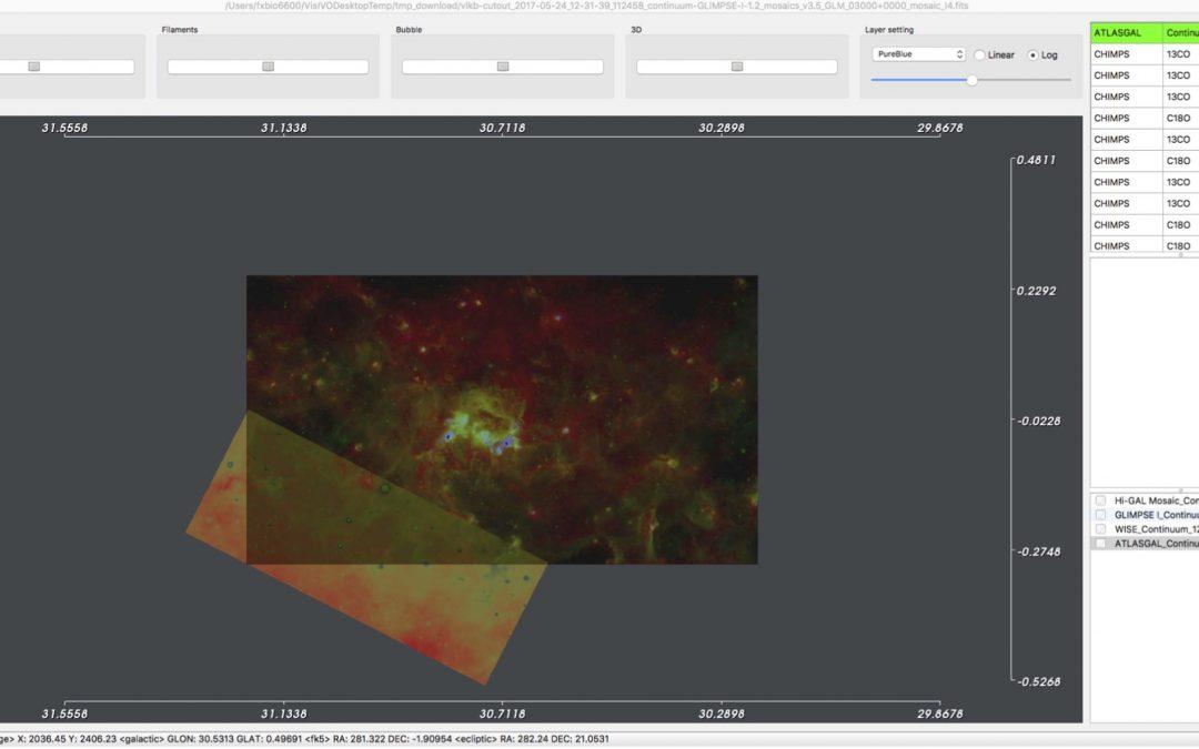 Vialactea Visual Analytics Tool for Star Formation Studies of the Galactic Plane