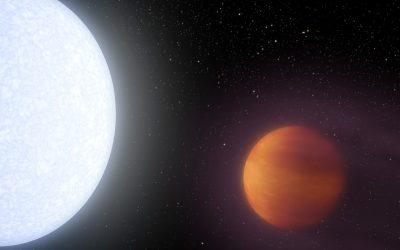 Atomi di ferro brillano nell'atmosfera di Kelt-9b